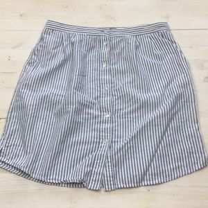 Tommy Hilfiger button down striped cotton skirt 6